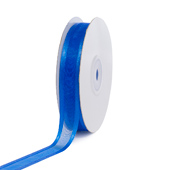 "5/8"" Organza with Satin Edge Ribbon - 25 Yards (Royal Blue)"