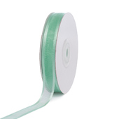 "5/8"" Organza with Satin Edge Ribbon - 25 Yards (Mint Green)"