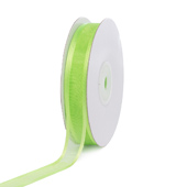 "5/8"" Organza with Satin Edge Ribbon - 25 Yards (Apple Green)"