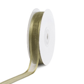 "5/8"" Organza with Satin Edge Ribbon - 25 Yards (Moss Green)"