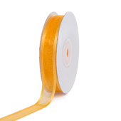 "5/8"" Organza with Satin Edge Ribbon - 25 Yards (Light Gold)"