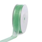 "7/8"" Organza with Satin Edge Ribbon - 25 Yards (Mint Green)"