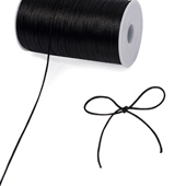 2mm Rat-tail (Chinese Knot) - 200 Yards (Black)