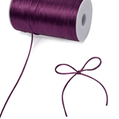 2mm Rat-tail (Chinese Knot) - 200 Yards (Plum)