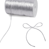 2mm Rat-tail (With Metallic Trim) - 200 Yards (White/Silver)