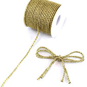 3mm 2 Ply Twist Cords - 25 Yards (Gold)