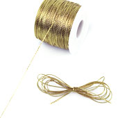 1mm Metallic Gift Tag (Non-Elastic) - 144 Yards (Gold)