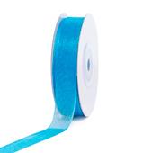 "5/8"" Plain Organza Sheer Ribbons - 25 Yards (Turquoise)"