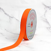 "7/8"" Grosgrain Ribbon - 50 Yards (Orange)"