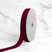 "7/8"" Grosgrain Ribbon - 50 Yards (Wine)"