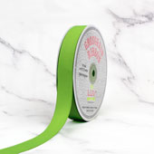 "7/8"" Grosgrain Ribbon - 50 Yards (Apple Green)"