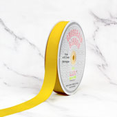 "7/8"" Grosgrain Ribbon - 50 Yards (Canary)"