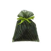 "5""x 6.5"" Organza Zebra Pouches - Sold by a Dozen Pieces ( 6 Pieces/Inner Pack) (Apple Green/Black)"