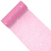 """6"""" Glitter Tulle Spool - 10 Yards (Pink)"""