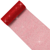 """6"""" Glitter Tulle Spool - 10 Yards (Red)"""