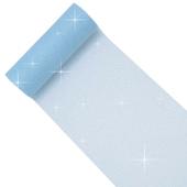 "6"" Glitter Tulle Spool - 10 Yards (Blue)"