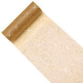 """6"""" Glitter Tulle Spool - 10 Yards (Gold)"""