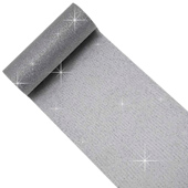 "6"" Glitter Tulle Spool - 10 Yards (Silver/Silver)"