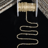 1.5mm Rhineston Chain (Continuous) - 5 Yards (Gold)