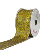 """2"""" Metallic Bling Disco Ribbon - 10 Yards (Gold)"""