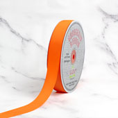 "7/8"" Grosgrain Ribbon - 50 Yards (Neon Orange)"