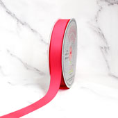 "7/8"" Grosgrain Ribbon - 50 Yards (Neon Pink)"