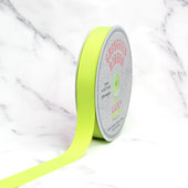 "7/8"" Grosgrain Ribbon - 50 Yards (Neon Yellow)"