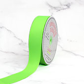 "1 1/2"" Grosgrain Ribbon - 50 Yards (Neon Green)"