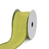 "2 1/2"" Wired Burlap Ribbon -10 Yards (Apple Green)"