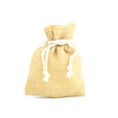 "3"" X 4"" Faux Burlap Pouches - Sold by a Dozen Pieces ( 6 Pieces/Inner Pack) (Natural)"