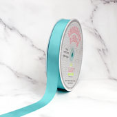 "7/8"" Grosgrain Ribbon - 50 Yards (Aqua)"