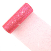 """6"""" Glitter Tulle Spool - 10 Yards (Coral)"""