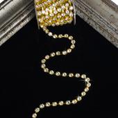 7mm Rhineston Chain (Separated) - 5 Yards (Gold)