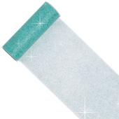 "6"" Glitter Tulle Spool - 10 Yards (Aqua)"