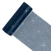 "6"" Glitter Tulle Spool - 10 Yards (Navy Blue)"