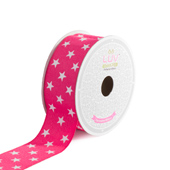 "1 1/2"" Grosgrain Cosmic Star Ribbon - 10 Yards (Hot Pink)"