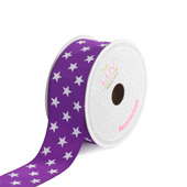 "1 1/2"" Grosgrain Cosmic Star Ribbon - 10 Yards (Purple)"