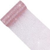 "6"" Glitter Tulle Spool - 10 Yards (Blush)"