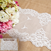 """14""""X72"""" VINTAGE LACE TABLE RUNNER-PC (White)"""