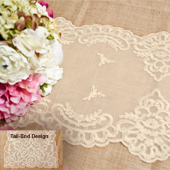 """14""""X72"""" VINTAGE LACE TABLE RUNNER-PC (Ivory)"""
