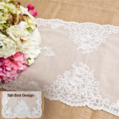 """14""""X72"""" BUTTERFLY LACE TABLE RUNNER-PC (White)"""