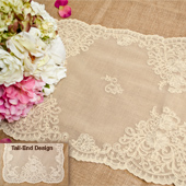 """14""""X72"""" BUTTERFLY LACE TABLE RUNNER-PC (Ivory)"""