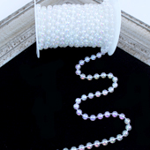 8mm PEARLS STRING-10 YDS (Iridescent)