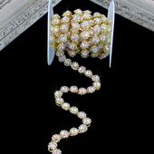 "3/8"" JEWEL RHINESTONE CHAIN-3 YDS (Iridescent Gold)"