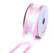 "1 1/2"" IRIDESCENT SHIMMERING RIBBON-5 YDS (Pink)"