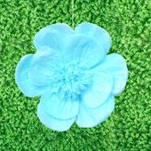 "20"" TISSUE SCALLOP FLOWERS-PC (Blue)"