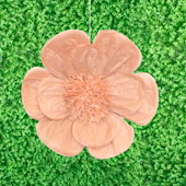 """20"""" TISSUE SCALLOP FLOWERS-PC (Taupe)"""
