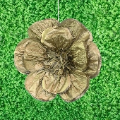 "20"" METALLIC TISSUE SCALLOP FLOWERS-PC (Gold)"