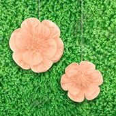 "12"",16"" TISSUE SCALLOP FLOWERS-2 PCS/SET (Peach)"