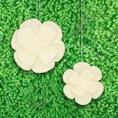 "12"",16"" TISSUE SCALLOP FLOWERS-2 PCS/SET (Ivory)"